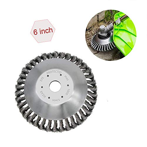 Great Price! hhyt The Indestructible Trimmer Garden Grass Trimmer Head Weed Brush Steel Wire Wheel ï...