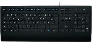 Logitech K280e Pro Kabelgebundene Business Tastatur für Windows, Linux und Chrome, USB-Anschluss, Handballenauflage, Sprit...
