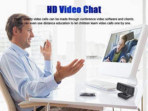 Licyley Cámara Web Full HD 1080P con micrófono, computadora portátil PC USB Webcam de Escritorio para videollamadas, Estudios, conferencias, grabación, Juegos con Clip Giratorio miniatura