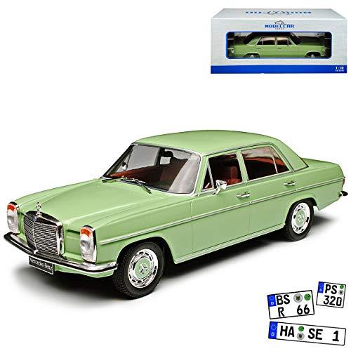 Model Car Group Mercedes-Benz 220 /8 Strich-Acht Limousine Grün W114 1967-1976 1/18 Modell Auto