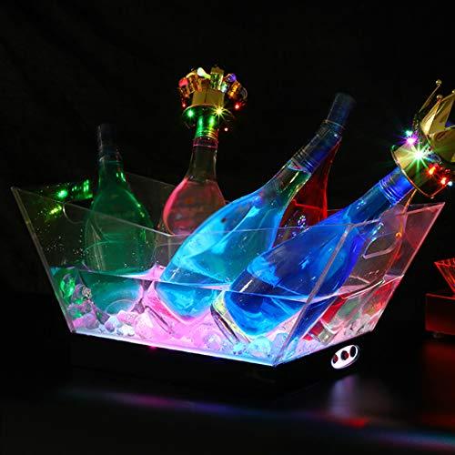 Secchiello Per Ghiaccio A LED Acrilico Lampada con Gradienti Colorati, Raffredda Bottiglie, Secchiello Per Spumante, Refrigeratore Per Bevande, Per Ristorante, Pub, Feste