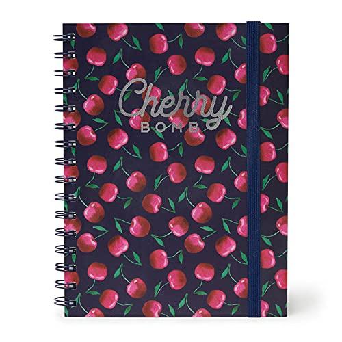 Legami A5NOTS0022 Quaderno con Spirale Foglio Bianco, Foglio A5, Cherry Bomb
