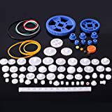 80Pcs Plastic DIY Robot Gear Kit Gearbox Motor Gear Set for DIY Car Robot