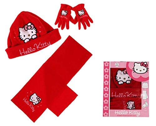 Hello kitty Mädchen Handschuh-Set rot rot 6-9 Jahre
