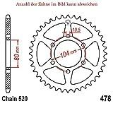 f/ür 7 Zoll Felgen 54 Z/ähne 3 Loch #35 HMParts Dirt Bike//Mini Cross Ritzel