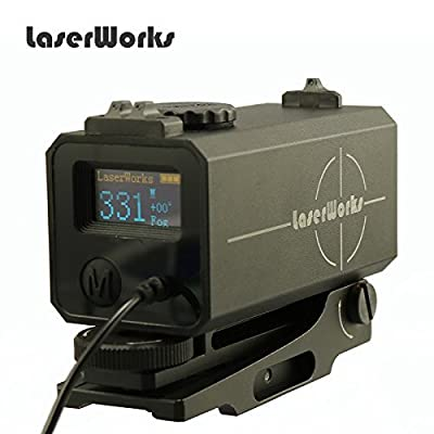 LaserWorks LE-032 Riflescope mate rangfinder 700M Mini Tactical Outdoor Hunting Shooting Rangefinder Archery Crossbow Sight Target Scope from LaserWorks