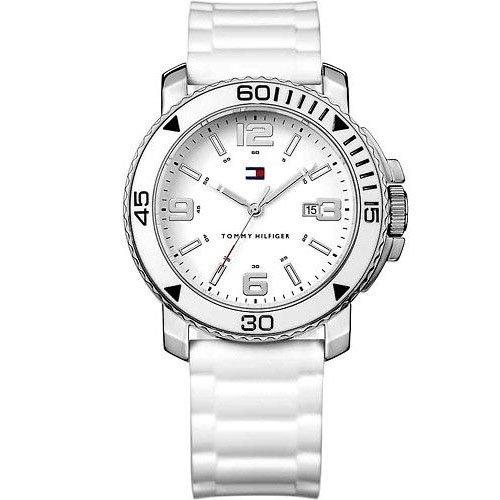 Tommy Hilfiger 1790822 - Reloj de Pulsera para Mujer, Correa de Caucho Color Blanco