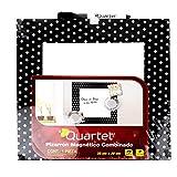 Quartet P6391 Pizarrón de 30x30cm con marco de tela, pack of/paquete de 1