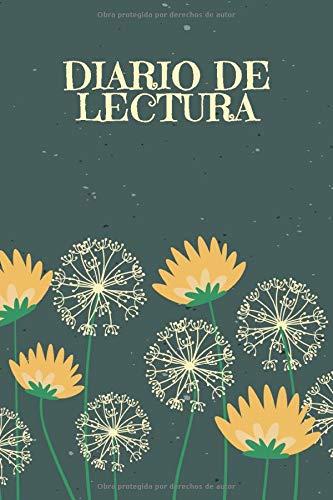 Diario de Lectura: Book Journal a completar | para todos los amantes de los gusanos de libros y de la literatura | Motivo: Dientes de león