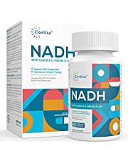 NADH 50mg + CoQ10 200mg + D-Ribose 150mg Supplement, Anti Aging NAD Booster, Reduced Nicotinamide Adenine Dinucleotide for Energy Metabolism & Longevity