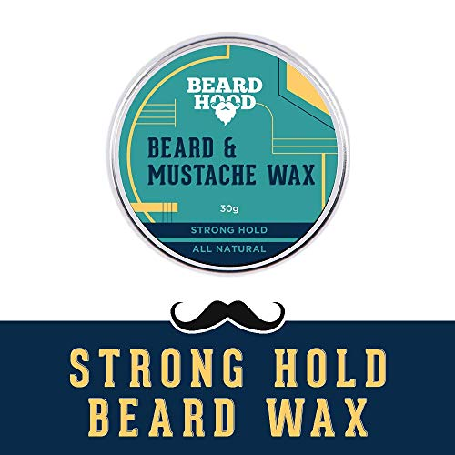 Beardhood 100 Natural Mustache And Beard Wax For Strong Hol