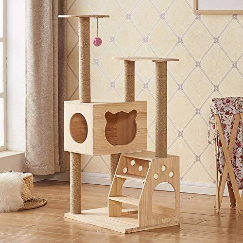 gengxinxin Katzen Kratzbaum Kratzbaum Für Katzen Katze Klettergerüst Umweltfreundliche Massivholz Katzennest Kratzbaum Baumhaus Katzenspielzeug Große Selbstgemachte Mehrschichtige Ring-jm-3