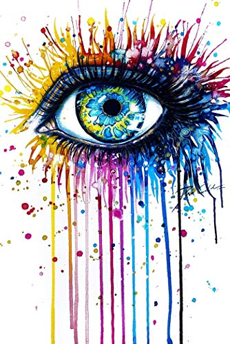 BGFDV Abstract colorful eyes canvas painting wall art poster prints modern watercolor art picture decoration living room decoration big eyes