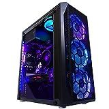 Custom RIG Gaming PC Desktop Computer (AMD Ryzen 5 1600 3.6GHz 6-Core, AMD Radeon RX 570 4GB, 16GB DDR4 3000MHz RAM, 512GB M.2 SSD, Wi-Fi, Windows 10)