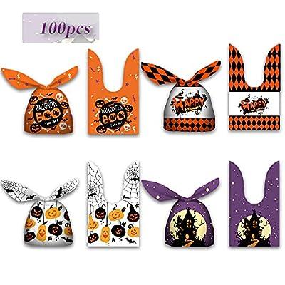 GEHARTY Halloween Candy Bags Treat Bags,100 PCS...