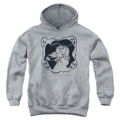 Trevco Courage The Cowardly Dog Ghost Frame Youth Pull Over Hoodie Athlet...