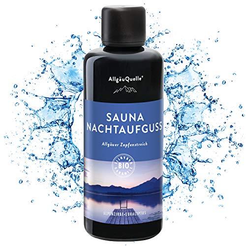 Saunaaufguss mit 100% BIO-Öle Nachtaufguss Alpenzirbe Eukalyptus (100ml) Natürlicher Sauna-aufguss...