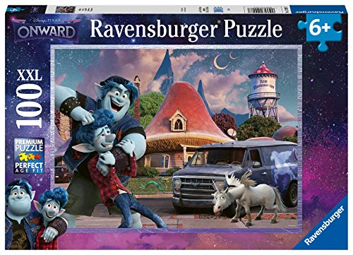 Ravensburger 12928 Disney Onward-100pc Jigsaw Puzzle with Extra Large Kids Age 6 Years & up-Every Unique, Pieces fit Together Perfectly