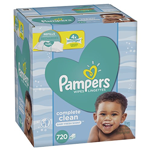 Price comparison product image Baby Wipes,  Pampers Baby Diaper Wipes,  Complete Clean Scented,  10 Refill Packs for Dispenser Tub,  720 Total Wipes