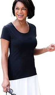 black organic cotton t shirt