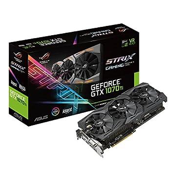 ASUS ROG Strix GeForce GTX 1070 Ti 8GB GDDR5 Advanced Edition VR Ready DP HDMI DVI Gaming Graphics Card  ROG-STRIX-GTX1070TI-A8G-GAMING   Renewed