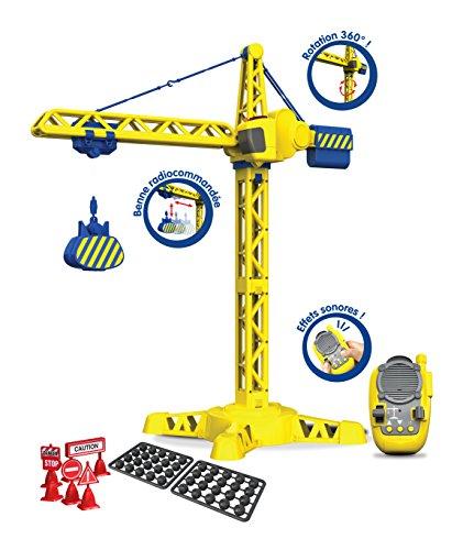 Tooko - Grue de Chantier Radiocommandée avec Effets Sonores - Tourne à 360° - 70 cm - Contrôle Tout de la Télécommande - Jouet Maternelle