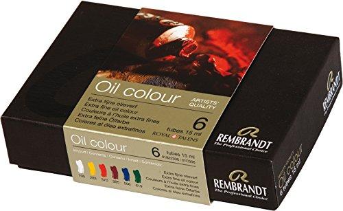Rembrandt - Pintura al óleo - Set para principiantes - 6 tubos de 15 ml