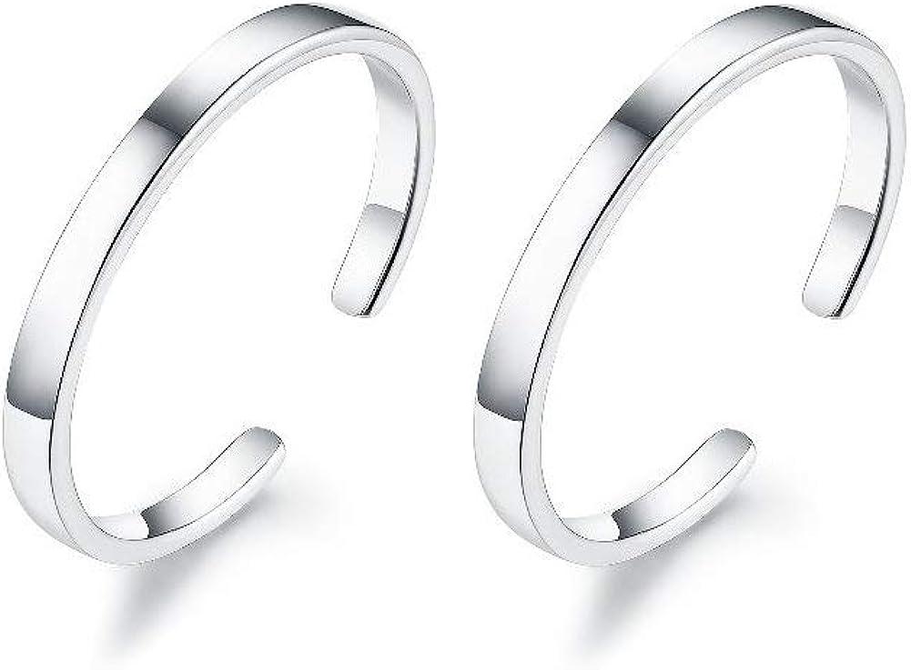Izpack Minimalist Cuff Clip On 925 Sterling Silver Small Hoop Ea