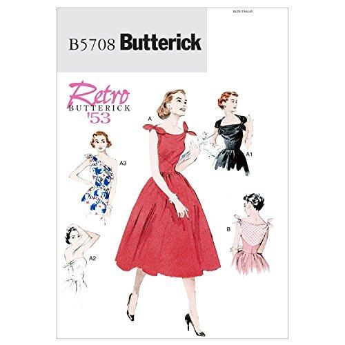 Butterick BTK 5708 A5(6-8-10-12-14) B5708 Schnittmuster zum Nähen, Elegant, Extravagant, Modisch