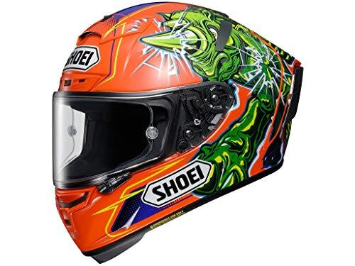 Shoei X-Spirit III Power Rush TC-8 orange Integralhelm Motorradhelm, M