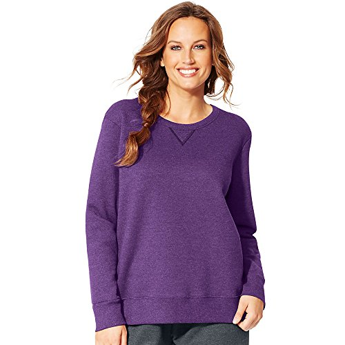 Just My Size Women's Plus-Size EcoSmart Sweatshirt with V-Notch, Violet Splendor Heather, 5XL