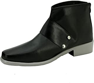 Qrow Cosplay Booties Halloween Short Boots Black Costume Shoes