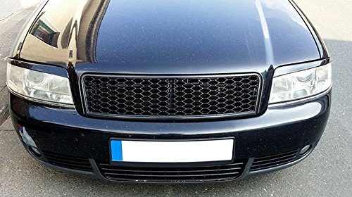 RS Style Badgeless Euro Front Sport Hex Mesh Grill For Audi A6 C5 4B S Line RS6 01-4