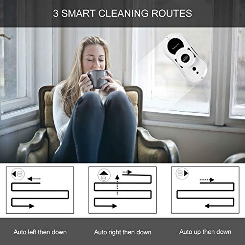 Window Cleaner Robot, Sophinique X5 Window Vacuum Cleaner Smart Glass Cleaning Robotic with APP &...