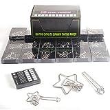 FOKOM Rompicapo, 24Pack Calendario dell'Avvento Rompicapo 3D Puzzle in Metallo per Bambini e Adulti