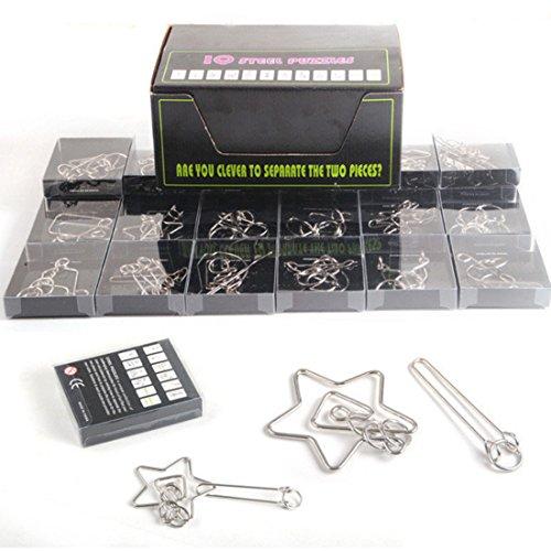 Rompecabezas Metal , FOKOM 24Pack Puzzles 3D Juegos de Ingenio Juegos de Mesa Juego IQ Juguete Educativos Habilidad Juego Logica Calendario de Adviento para Nios y Adultos