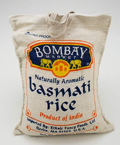 Bombay Market Basmati White Rice - 10 Pound Bag