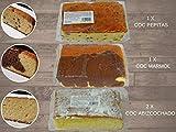 LAPASION - COC abizcochado, Coc Marmol, Coc Pepitas. Pack de 4 bizcochos variados. Total 2 Kg