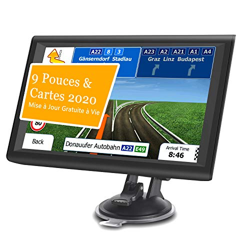 Aonerex 9' GPS Voiture Auto Navigation Écran Tactile...