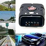 MUXAN - Rilevatore di velocità con Allarme vocale e rilevatore di velocità a 360 Gradi, modalità Città/Autostrada, Colore: Nero