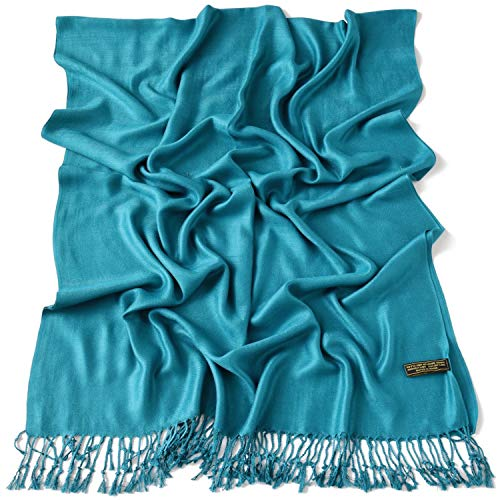 Teal Green Solid Colour Design Shawl Scarf Wrap Stole Throw Head Wrap Face Cover Pashmina CJ Apparel NEW