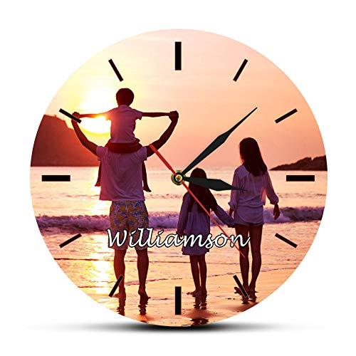 Biubiubiubiu Foto Personalizada Imagen Reloj De Pared Impresión A Tod