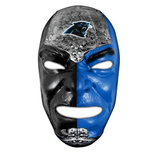Franklin Sports NFL Carolina Panthers Fan Face Mask - Team Fan Masks for NFL Football Games and Tailgates - Sports Fan Face Mask - Face Paint Masks