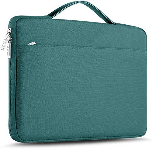 ZINZ Maletín 15 15,6 16 Funda Portátil Impermeable para 15-16 Pulgadas MacBook Pro 16 15, Surface Laptop 3 15,XPS 15 Laptop Ultrabook Netbook, DELL HP Lenovo Acer ASUS y más, Verde Oscuro