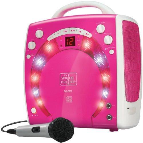 Singing Machine SML283P Impianto per Karaoke Portatile con Lettore CD-G e 3 CDG di Canzoni Pronti all uso, Rosa