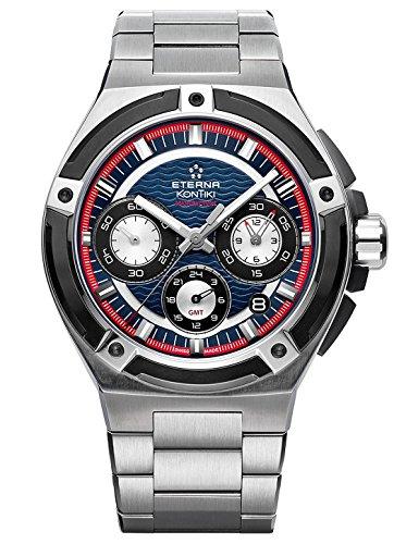 Eterna Herren-Armbanduhr Royal Kontiki Manufacture Chronograph GMT Datum Analog Automatik 7760.42.80.0280