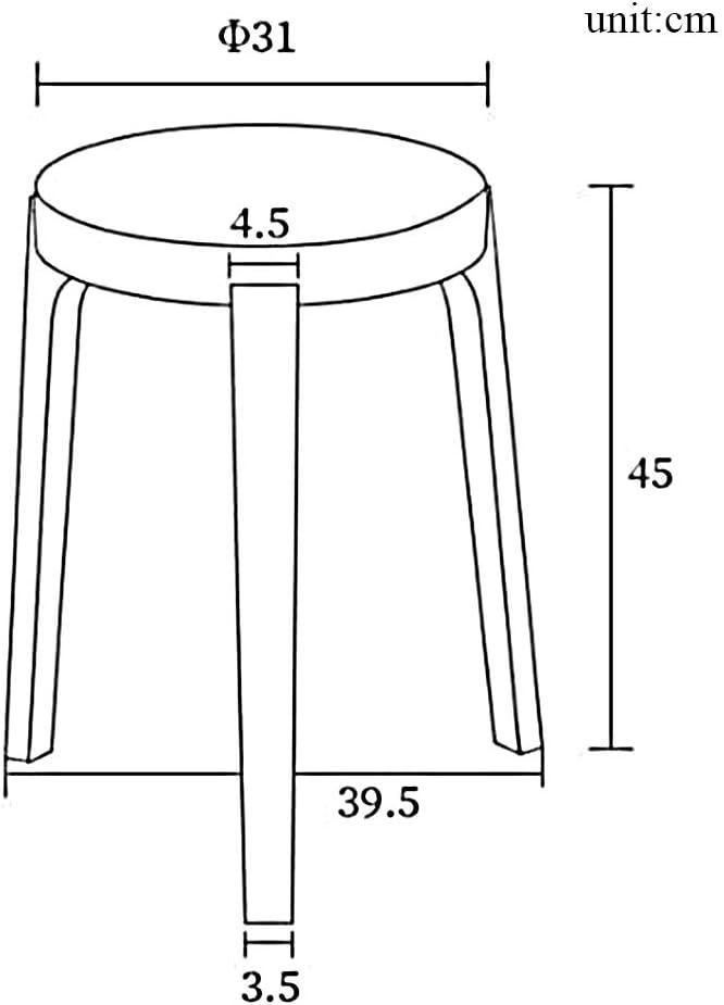 XIA&Tabourets Tabouret rond en bois Table de ménage Ménage Dressing Tabouret Tabouret Salon 23 Couleurs 31 * 45cm (Couleur : 10) 18