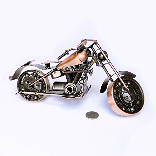 Trebisky Collectible Art Sculpture Die Cast Harley Davidson Scrap Metal Motorcycle (Copper Sportster)