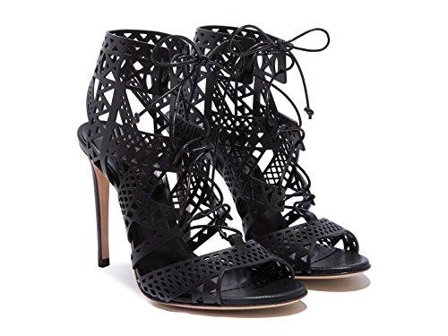 Casadei Sandales à Talons Hauts Femme en Cuir Noir - Code modèle: 1L330D100.VITT000 - Taille: 38 EU