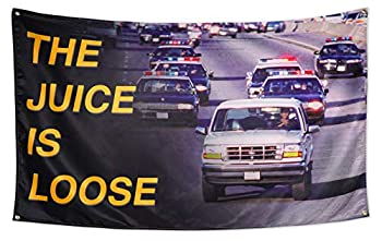 Xinttka The Juice is Loose Flag 200D Thick 3x5 Feet OJ Simpson Banner Mancave Wall flag College Dorm Decor 3x5 Feet Tapestry